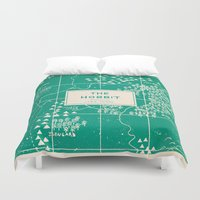 the hobbit Duvet Covers featuring The Hobbit by Buzz Studios