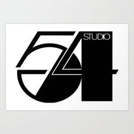 Studio 54 Art Print, Black White Poster, Art Prints, Fashion Print, Minimalist Print, Modern Art, Mi Art Print