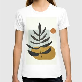 Soft Abstract Large Leaf T-shirt