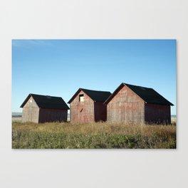672 Grain Sheds 1 Canvas Print