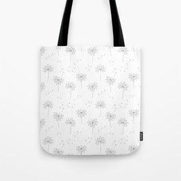 Dandelions in Grey Tote Bag