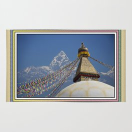 BOUDHANATH AND MACHAPUCHARE NEPAL COMPOSITE Rug