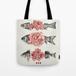 To Bloom Not Bleed  Tote Bag