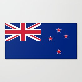 National flag of New Zealand - Authentic version to scale and color Canvas Print