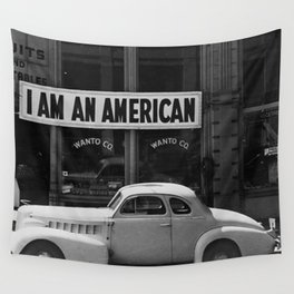 I Am An American Photo Dorothea Lange Wall Tapestry