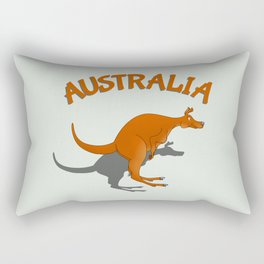 Kangaroo Australia Rectangular Pillow