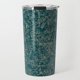 Constellations of the Northern Hemisphere Vintage Paper and Emerald Travel Mug