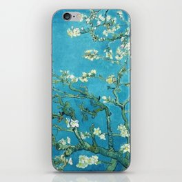Vincent van Gogh Blossoming Almond Tree (Almond Blossoms) Light Blue iPhone Skin