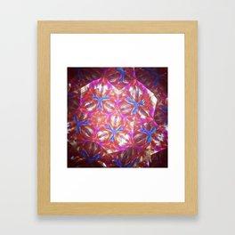 Geometric kelidoscope Framed Art Print