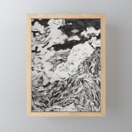 Breathing with the Clouds Framed Mini Art Print