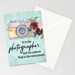 It is the photographer Stationery Cards
