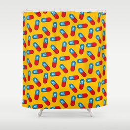 Deadly but Colorful. Pills Pattern Shower Curtain