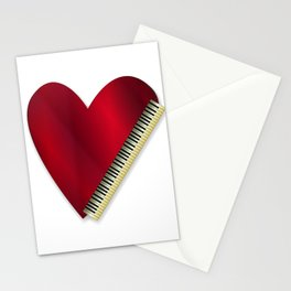 Love Playing Piano Stationery Cards