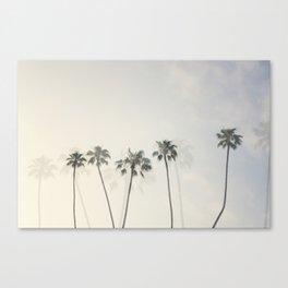 Double Exposure Palms 1 Canvas Print