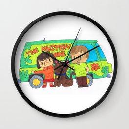 Sleuth Couple and Dog Wall Clock