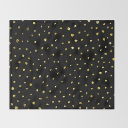 Brushed Gold Dots Throw Blanket