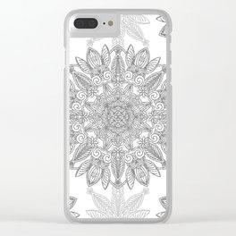 Silver Mandala Clear iPhone Case