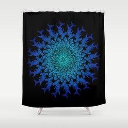 Ombre Tribal Hammerhead Mandala Shower Curtain