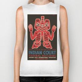 Vintage poster - Indian Court Federal Buildinng Biker Tank