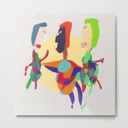 - threesome - Metal Print