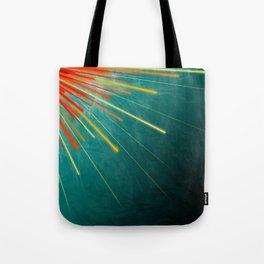 Aqua Starburst Tote Bag