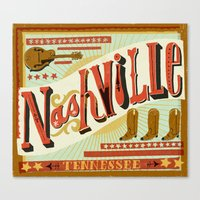 nashville Canvas Prints featuring Nashville by Mary Kate McDevitt