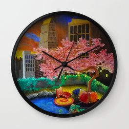 A Most Unlikely Garden Amongst Concrete Wall Clock