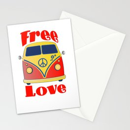 Free Love , festival fantasy with Woodstock in mind Stationery Cards