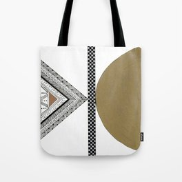 Geometric Shapes with Gold, Copper and Silver Tote Bag