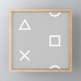 Grey Gamer Framed Mini Art Print