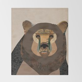 Bear Collage Throw Blanket