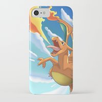 charizard iPhone & iPod Cases featuring Charizard by Pablo Rey