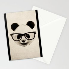Panda Head Too Stationery Cards