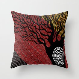 The Silent Witness Throw Pillow