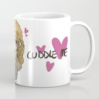 cuddle Mugs featuring Cuddle me by ScottyTheCat