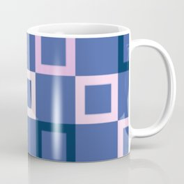 Pink White and Blue Boxes Coffee Mug