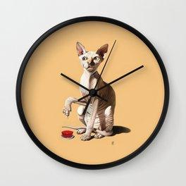 Cat-astrophe (Colour) Wall Clock