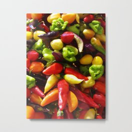 Chili Pepper Luck charm Metal Print