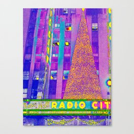 Radio City Music Hall with Holiday Tree, New York City, New York Canvas Print