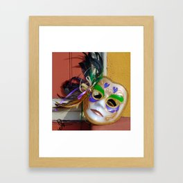 New Orleans Mardi Gras Mask Framed Art Print