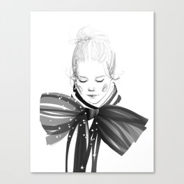Black Bow Canvas Print