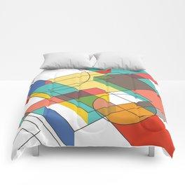 Mid Century Modern Abstraction 1 Comforters