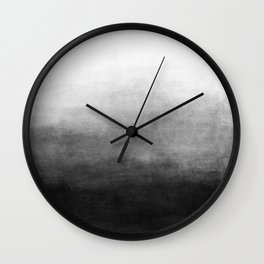 Ombre Paint Color Wash (black/white) Wall Clock