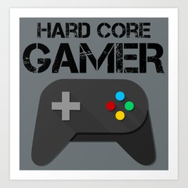 Game Console Black Joystick Art Print
