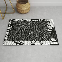 History of Art in Black and White. DADA Rug