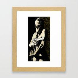 Gas Mask Girl Framed Art Print