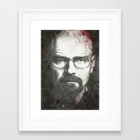 walter white Framed Art Prints featuring Walter by LisilV