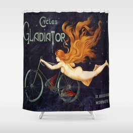 Vintage poster - Cycles Gladiator Shower Curtain