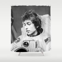 bob dylan Shower Curtains featuring bob dylan spacer by Maioriz Home
