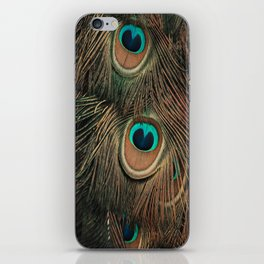 Peacock feathers abstract II iPhone Skin